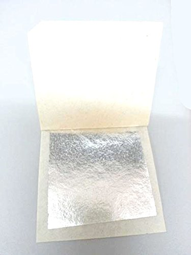 20 Sheets 24 Karat Real Silver Leaf for Cooking, Art Framing 999/1000 super Quality(SilverLeaf20) (999 Pure Silver Leaf)