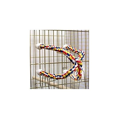 Aspen Pet Booda Comfy Perch Multicolor 25in Cross Small Bird Toy