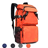 HUIJIA Ultra Lightweight Packable Water Resistant Travel Hiking Backpack Daypack Handy Foldable Camping Outdoor Backpack (Orange)