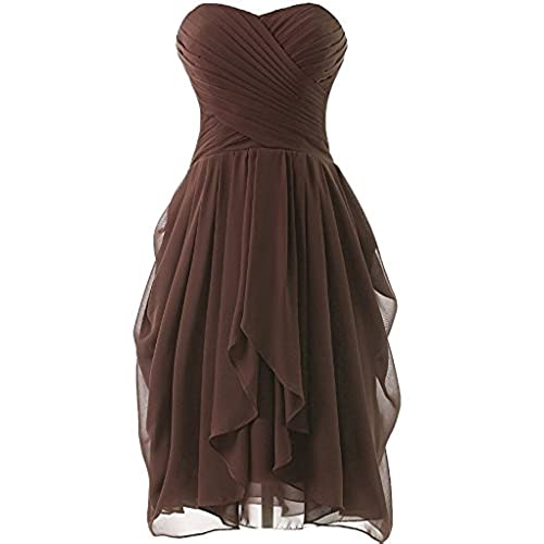 Chocolate Brown Strapless Dress Amazon