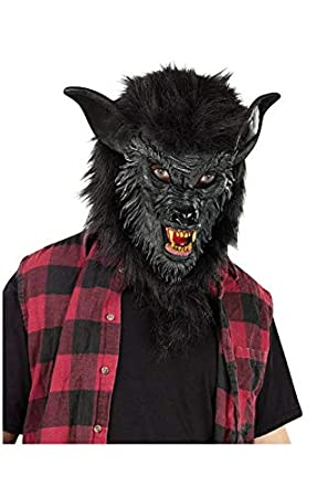 Horror-Shop Máscara del hombre lobo negro