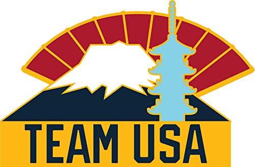 2020 Summer Olympics Tokyo Japan Team USA Mount Fuji Lapel ()