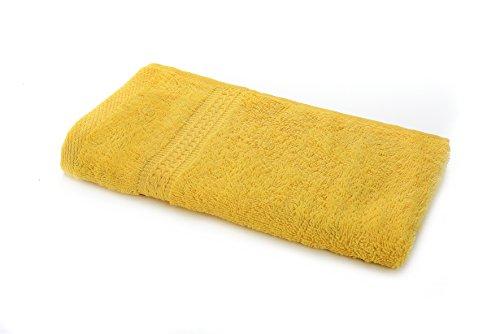 etérea Handtuch - Frotteeserie, schwere und flauschige 500 g/m² Qualität, 30 cm x 50 cm Gästetuch in Gelb