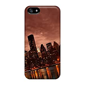 Shock-dirt Proof Manhattan Nyc Reflections Case Cover For Iphone 5/5s