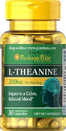 L-Theanina L-Teanina 200 mg 30 caps, ansiedad y menopausia