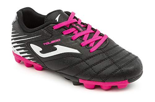 Joma Kids' Toledo JR MD 24 Soccer Shoes (1 Little Kid, Black/Pink)
