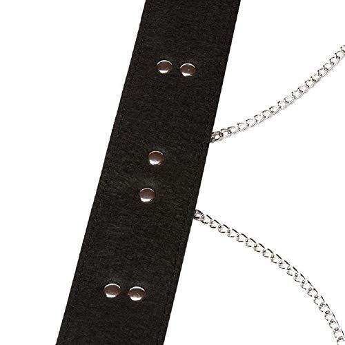 imbracatura pelle Bondage Catena in metallo con PU in Black BqtHn