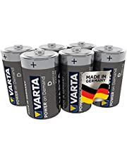 Varta Power On Demand D Mono Batterijen (Verpakking Met 6 Stuks - Smart, Flexibel En Krachtig, Smart Home-Apparaten Of Zaklampen)