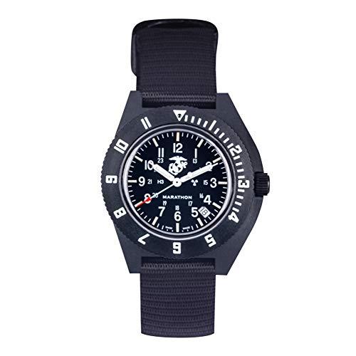 Marathon Watch WW194013 Navigator Swiss Made Military Issue Pilot's Watch. ETA F06 Movement, Date and Tritium (41mm, Black)