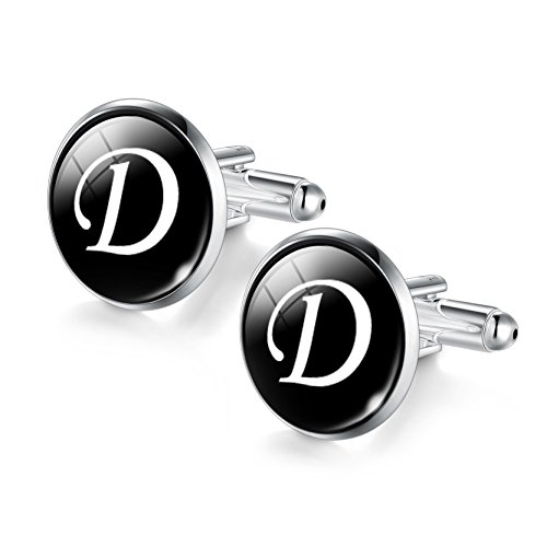 New Rhodium Cufflinks Cufflink - Jiayiqi Artistic D-Letter Rhodium Silver Plated Cufflinks Business Suiting Up by Men's Collections
