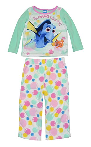 - Disney Girls' Finding Dory 2-Piece Fleece Pajama Set, Mint, 18 Months
