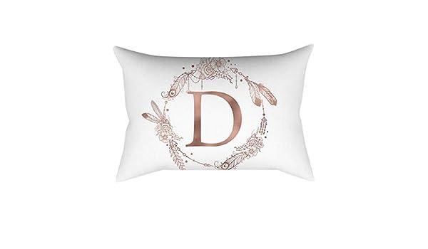 Deelin - Funda de cojín para sofá con diseño de Alfabeto ...