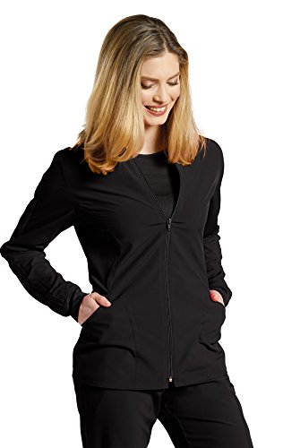 Fit by White Cross Women's 957 Zip up Mesh Accent Warm up Jacket- Black- X-Small