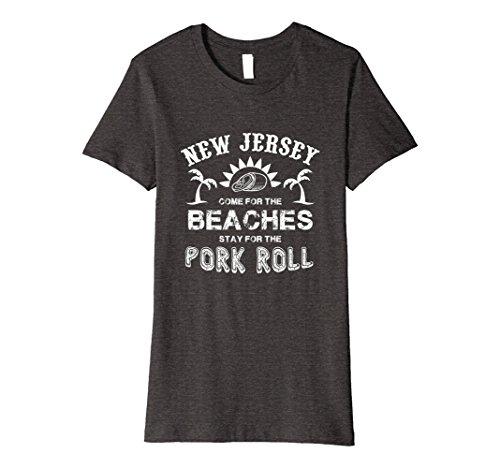 Womens Pork Roll Shirt New Jersey 2018 Beach Holiday Large Dark Heather