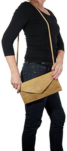 poignet sac Design bandoulière enveloppe Embrayage cuir de de rangement Light italien marque daim en épaule nbsp;Comprend fabriqué la à protecteur Beige main ou sac un 4t5wpU5q