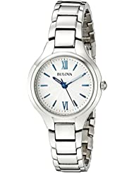 Bulova Womens 96L215 Analog Display Quartz Silver Watch