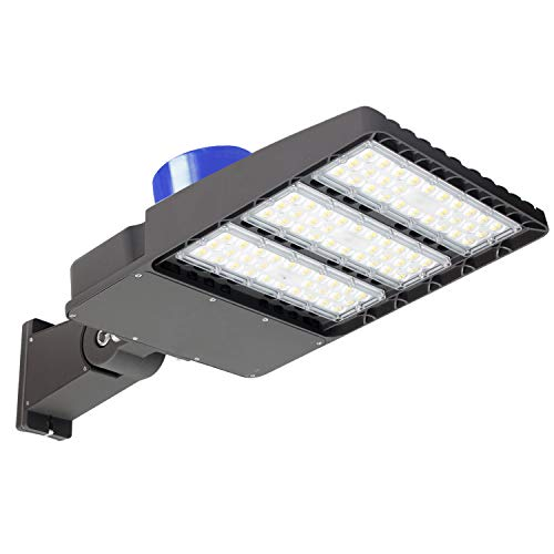 200W LED Parking Lot Lights - 26000LM Daylight 5000K LED Shoebox Pole Light (with Photocell), Waterproof IP65, LED Street Light Lamp for Commercial Area Street Security Lighting Fixture