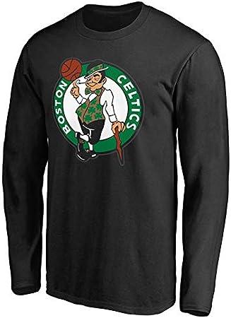 XSSC # 11 Boston Celtics Kyrie Irving Camiseta de Baloncesto para Hombre Ropa de Entrenamiento de Jersey de Manga Larga Camiseta Estampada Sudadera Chaqueta 1Uniform Ropa Black-S