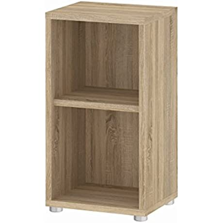 Tvilum 79405ak 2 Shelf Narrow Bookcase Oak Structure