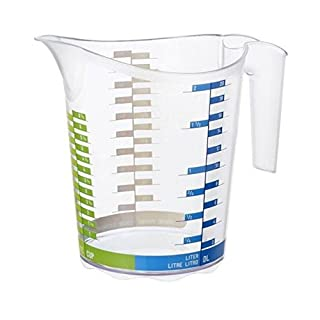 "Rotho"" Domino LML Measuring Cup, Green/Blue, 2 Litre, 45 x 35 x 25 cm"