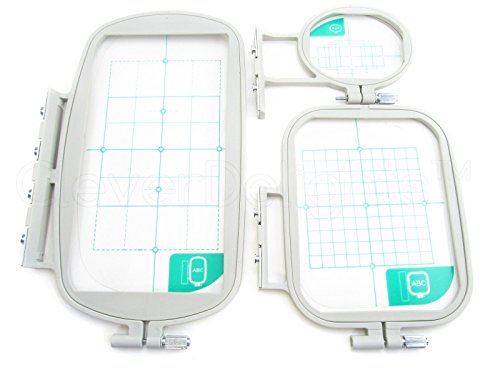 (Ship from USA) Embroidery Hoop Set for Brother SE400 SE425 PE500 Machine - 3 Piece Set - NEW *PLKHG484UY4455