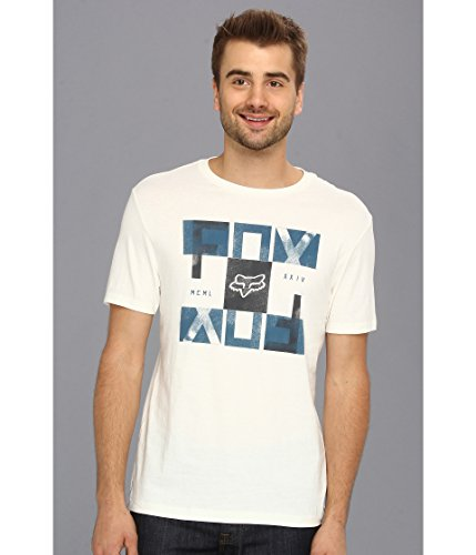 Fox Men's Faded Short Sleeve Premium T-Shirt, Vintage White, X-Large