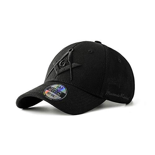 Masonic Baseball Hat - Masonic Revival - Noche Cap Hat (Stretch Fit L/XL) Black