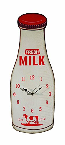 Creative Co Op Bottle Clock White