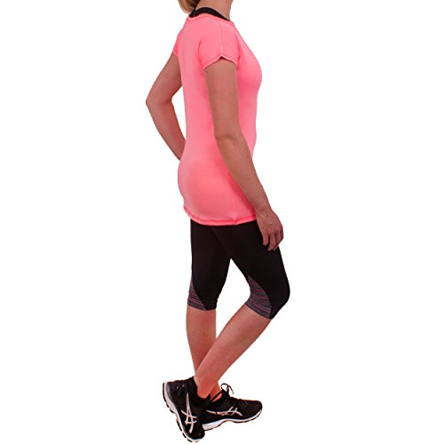 Higher State Women's Core Marl Loose Training Tee Rosa