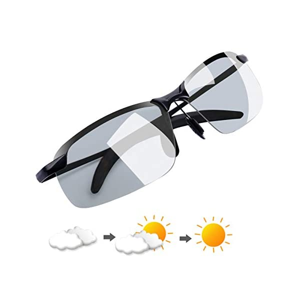 Polarized Photochromic Outdoor Sports Driving Sunglasses For Men Women Day Night