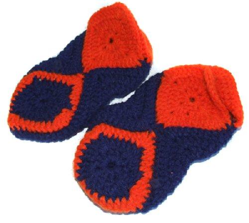 Retro 1970's Handmade Crocheted Socks Booties - 8 1/2 (Handmade Crocheted Stocking)