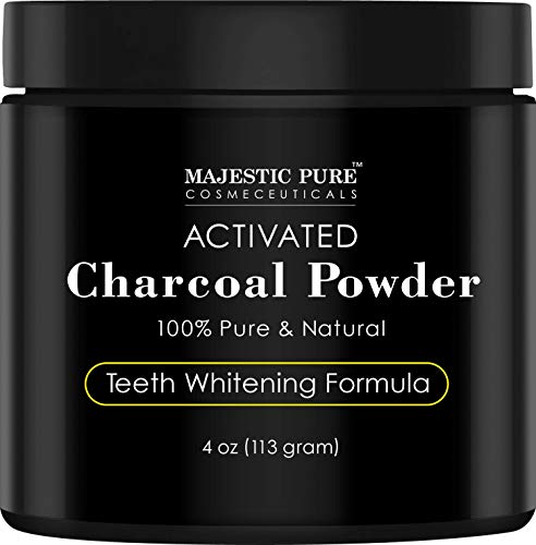 Majestic Pure Teeth Whitening Activated Charcoal Powder -