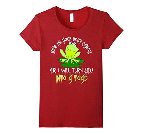 Womens Halloween shirt for Kids - Halloween Candy Small Cranberry (Kids Constumes)