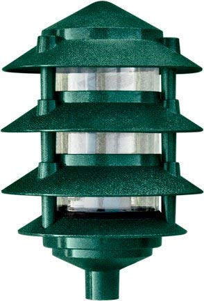 (Dabmar Lighting D5100-G Pagoda Fixture 4 Tier Incand 120V Light, Green Finish )