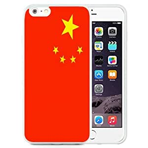 Beautiful Unique Designed Cover Case For iPhone 6 Plus 5.5 Inch With China Flag White Phone Case