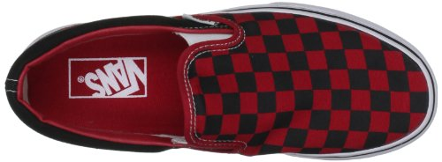 Vans Classic Slip-On Schwarz / Formel Eins Red Check