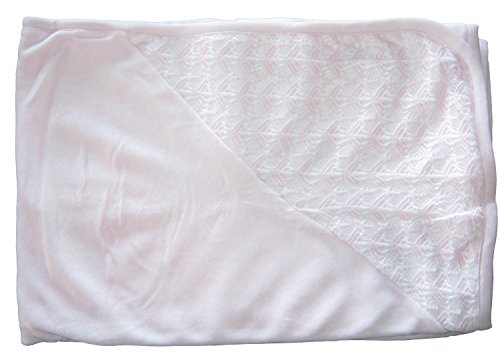 - Kissy Kissy Baby-Boys Infant Serenity VELOUR Receiving Blanket-Ecru-One Size