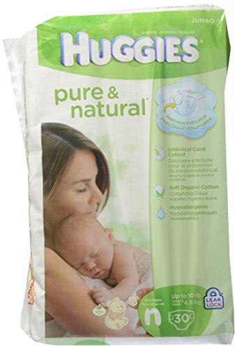 Huggies Pure & Natural Diapers - Newborn - 30 ct