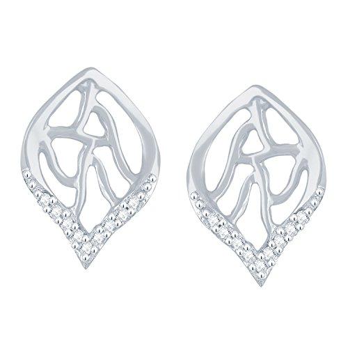 Giantti Diamant pour femme pendantes Boucles d'oreilles (0,05CT, VS Clarté, Gh-colour)