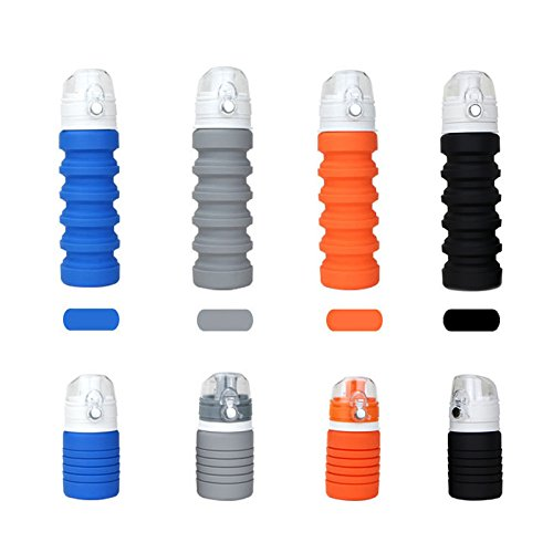 Romantic Angels Collapsible Drink Bottle Silicone Fordable Water Bottle for Travel Outdoors