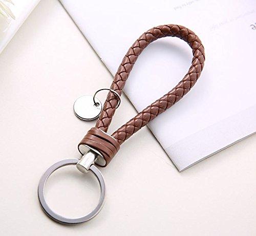 Amazon.com: Llavero de cuero con cadena de metal simple con ...