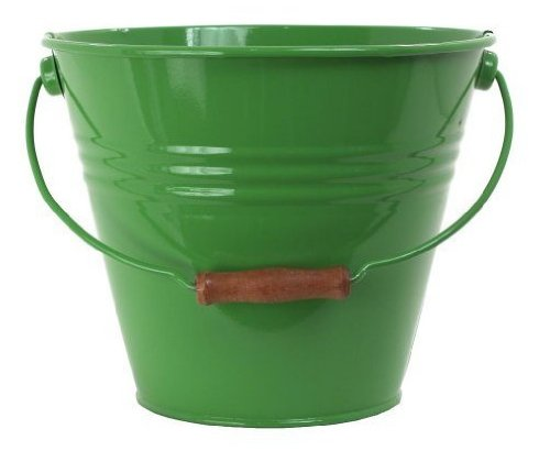Houston International 5202E AG 11.5-Inch Steel Fun Pail, Apple Green