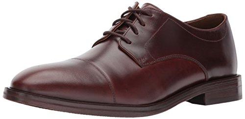 Bostonian Men's Mckewen Cap Oxford, Mahogany Leather, 9 Medium US
