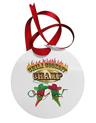 TooLoud Cowboy Chili Cookoff Champ Circular Metal Ornament (Az Sale Trees Phoenix For Christmas)