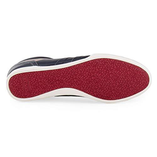 0 Cuir en Bleu 2 Chaussures Fonce Turlock Levi's qRxXRT