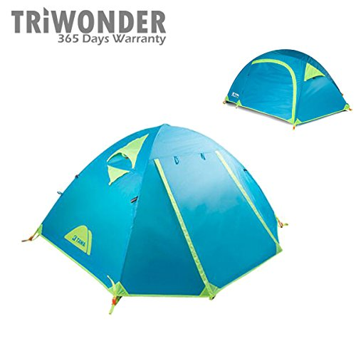 Triwonder 1-2 Person Lightweight Waterproof Backpacking Tent for Camping Hikng