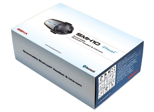 Sena SMH10-D-01SM Snowmobile Bluetooth Headset / Intercom with Boom and Wired Microphone (Dual) by Sena