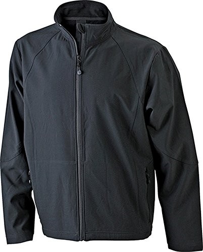 James & Nicholson Herren Softshelljacke S,Black
