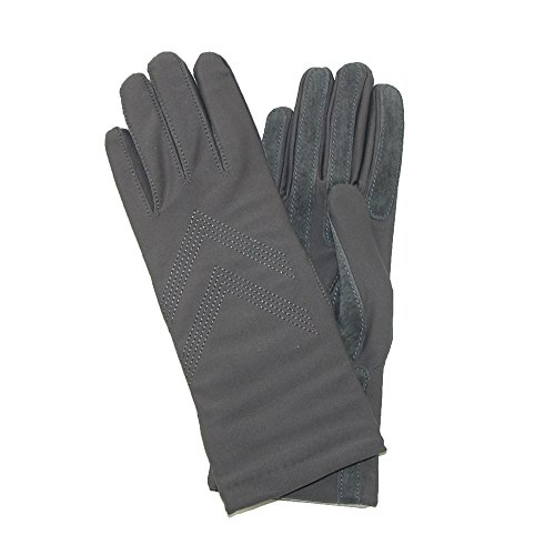 Isotoner Women's Knit Lined Spandex Winter Glove, Charcoal - Spandex Winter Gloves