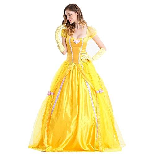 코스튬 드레스 옐로우계《고스로리》 할로윈 가장 캐릭터 가장 아가씨 양장 이벤트 파티 문화제 변장 (M)